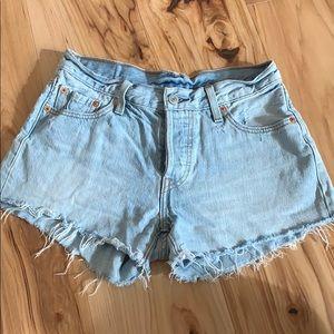Levi's 501 cutoff denim shorts